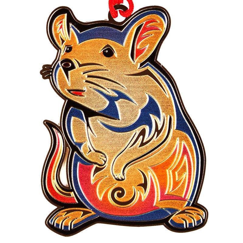 品轩阁 创意书签 24k镀金 韩国原装 十二生肖系列 鼠