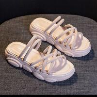 仙女风时尚凉鞋女新款2019夏季网红厚底百搭外穿罗马凉拖鞋ins潮