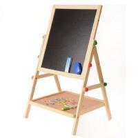 多功能二合一画板儿童双面磁性黑板画板木制支架式写字板