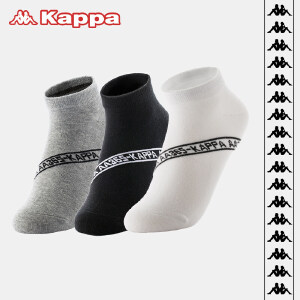 Kappa/卡帕(3双装)男袜经典串标潮流运动棉袜KP8W21