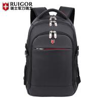 2018新款双肩包瑞士背包商务电脑背包男女旅行包学生书包15.6
