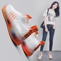 OLOMM女鞋休闲鞋女运动板鞋女韩版增高小白鞋女松糕学生老爹鞋子女厚底A03