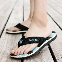 男士新款拖鞋夏季韩版拖鞋夏天个性潮流时尚室外穿沙滩人字拖