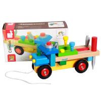 法国Janod工具拆装玩具车儿童手工组装车早教益智木制玩具新
