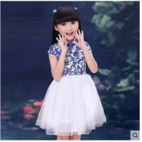 儿童旗袍古装连衣裙 女童装公主蓬蓬纱裙子小女孩演出表演服装 儿童裙子装支持礼品卡支付