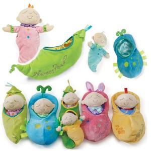 豌豆豌豆荚抱枕毛绒玩具靠枕布娃娃垫节萌物礼物一件