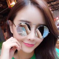 墨镜女潮时尚眼镜偏光太阳镜女士圆脸 复古眼镜 支持礼品卡支付