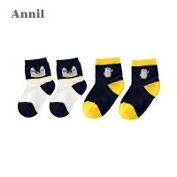 【活动价:35】安奈儿童装男女童袜子年新款中袜两件装XM807651