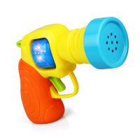 育儿宝 玩具枪 迷你音乐灯光小Q枪发光卡通可爱手枪幼儿宝宝1-3岁声光儿童玩具用品