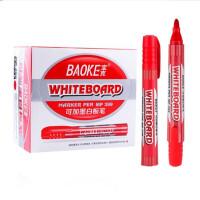 宝克白板笔 标记笔 黑色水性可擦笔 可加墨彩色笔 红/蓝/黑板笔 办公用笔