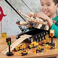 大号耐摔坦克玩具车可开门收纳消防车合金汽车儿童大炮男孩越野车
