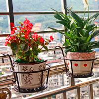 悬挂吊篮架家用铁艺阳台花架栏杆花架护栏挂式花盆架