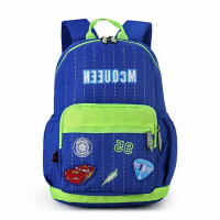 迪士尼男童书包 蓝绿学生双肩包 0018卡通创意背包 休闲包 旅行包
