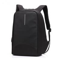 酷贝尔防盗双肩包笔记本背包15.6英寸电脑包USB充电双肩背包男式大学生书包8001 太空灰 可装15.6英寸电脑