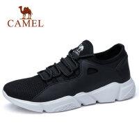 camel 骆驼男鞋春季新款时尚跑步运动鞋缓震轻盈系带健步鞋