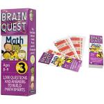 Brain Quest Math Grade 3 美国智力问答 bq问答卡 大脑任务 数学科目 三年级 儿童英文原版进