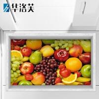 厨房贴3d立体贴画墙贴厨房卫生间瓷砖客厅墙面地板地面创意贴纸 荧光黄 FH025-水果 大