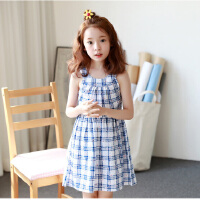 夏装新品童装韩版女童连衣裙中大童无袖童裙