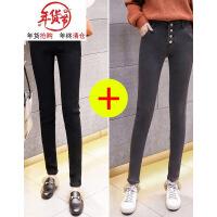 加绒牛仔裤女2018新款加厚高腰冬季韩版黑色显瘦小脚紧身外穿带绒