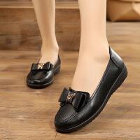 20190923092236113黑色单鞋女士职业鞋工作鞋圆头软底上班鞋工装鞋妈妈鞋