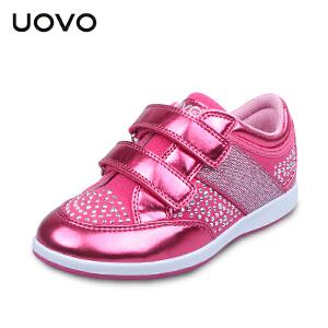 UOVO2017女童运动鞋春秋新款女童休闲鞋轻便搭扣中小儿童鞋子凤凰