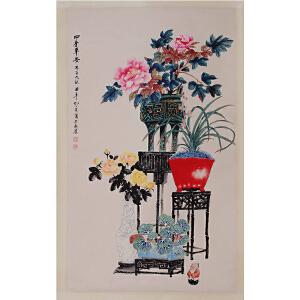 著名画家   孔小瑜《四季平安》