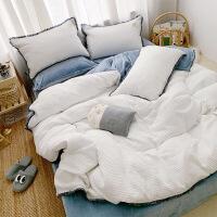 纯棉床上四件套裸睡亲肤床单被套床笠秋冬保暖宝宝绒公主风
