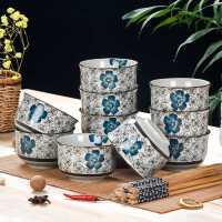 10个装碗套装日式和风餐具创意陶瓷碗餐具套装家用吃饭碗小米饭碗kb6