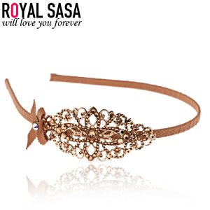 皇家莎莎RoyalSaSa韩版头饰时尚发卡手工合金人造水晶发箍压发头箍发饰-玲珑小城