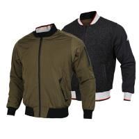 Adidas阿迪达斯男装 运动休闲两面穿梭织防风夹克外套 BQ5589