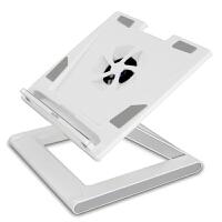 安尚(ACTTO)NBS-07W 可调高度电脑散热器笔记本支架折叠底座钢琴漆(白色)