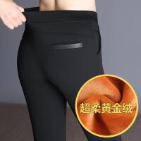 №【2019新款】送妈妈的秋中年打底裤女士大码胖mm高腰裤棉裤子外穿