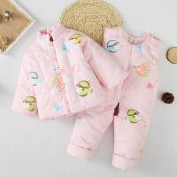 婴儿棉衣套装儿童棉花冬装新生儿宝宝棉衣