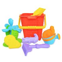 费雪Fisher-Price 8件儿童沙滩玩具套装 宝宝洗澡玩具挖沙工具戏水玩沙早教模型NG-323