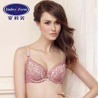 安莉芳文胸薄款大胸围女士性感蕾丝调整型收副乳聚拢内衣EB1699