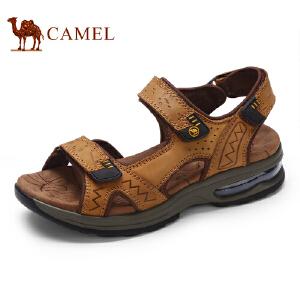 骆驼牌 男鞋 新品户外休闲沙滩鞋透气露趾气垫凉鞋男