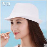帽子女礼帽时尚太阳帽男爵士帽情侣沙滩帽户外白色礼帽DIY