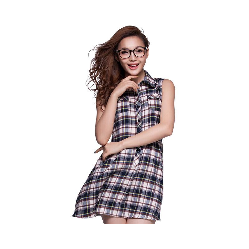 韩版格子衬衫女士中长款休闲宽松大码春装新款长袖衬衣防晒薄外套