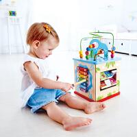 Hape奇趣游戏盒1-6岁绕珠玩具宝宝儿童早教启蒙益智多功能玩具婴幼玩具木制玩具E8378