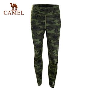 camel骆驼户外运动长裤 男春夏迷彩运动透气松紧针织长裤