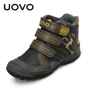 【每满100立减50】 UOVO童鞋 男童儿童运动鞋男孩中童小学生秋季搭扣休闲鞋新款 惠特尼