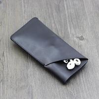 黑莓blackberry 手机壳保护套包超薄手机皮套 双层Key2 two 立体款 羊皮纹黑色