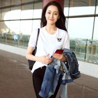 女生夏天T恤女短袖白色时尚宽松韩版学生百搭半袖打底衫