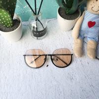 №【2019新款】眼镜韩版潮新款复古太阳镜半框茶色墨镜女网红街拍