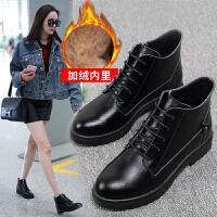 2019潮流女鞋马丁靴明星同款短靴韩版短筒皮靴品牌真品