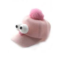 儿童棒球帽秋冬款男童女童大眼睛可爱鸭舌帽宝宝呢帽子