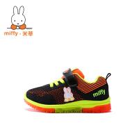Miffy米菲儿童运动鞋2017春秋季新款男童气垫鞋网鞋女童灯鞋子