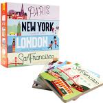 英文原版绘本 Hello World 系列 你好 世界 4册纸板 Paris巴黎London伦敦New York纽约S