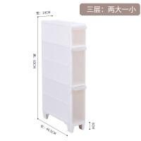 14cm夹缝收纳架落地浴室缝隙置物架塑料多层储物柜厨房冰箱整理架抖音同款