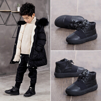 男童鞋子秋冬季儿童鞋男保暖中大童鞋